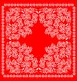 red bandanna design vector image vector image