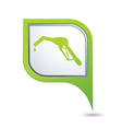 refuelling icon on green pointer vector image vector image