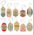 retro tags collection vector image