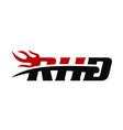 rhd ride hard fire vector image