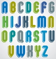 rounded alphabet letters bold and condensed font vector image
