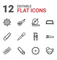 saw icons vector image vector image