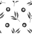 seamless pattern with black and white chestnut vector image vector image
