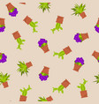 seamless pattern with indoor house plants and vector image vector image