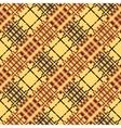 Seamless tartan pattern Diagonal brown palette vector image vector image