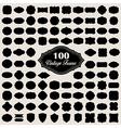 set 100 blank vintage frame badges and labels vector image vector image