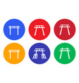 set japanese shrine icon and symbol vector image vector image
