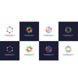 set people and community logo vector image