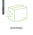 shipping outline icon vector image vector image