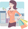shopping with credit card vector image vector image