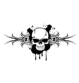 skull and patterns 110712 vector image vector image