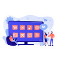 smart tv applications concept vector image vector image