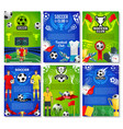 soccer sport club poster with football team player vector image vector image