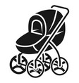 stroller with large wheels icon simple style vector image vector image
