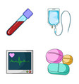 tablets and other equipmentmedicine set vector image vector image