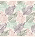 tender colors tropical fern leaves pattern vector image vector image