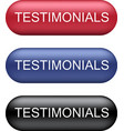 testimonials buttons collection vector image vector image