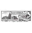 the state banner of illinois the prairie state vector image vector image