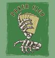 vintage poker club poster vector image vector image