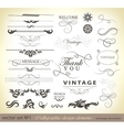 set calligraphic design vector image