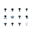Cup duotone icons on white background vector image
