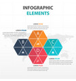 abstract colorful triangle and hexagon business vector image