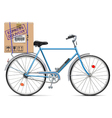 Delivery Bicycle with Carton Box vector image