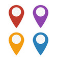 map marker icons set vector image