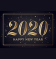 2020 happy new year greeting card with vector image vector image