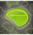 abstract background with green bubble vector image vector image
