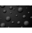 Abstract black circle balls background vector image vector image