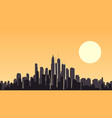 abstract of big city at sunset vector image