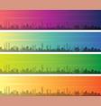 abu dhabi multiple color gradient skyline banner vector image vector image