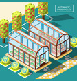 agricultural robots isometric poster vector image vector image