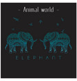 animal world elephant two thai elephant background vector image