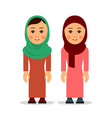 arab woman or muslim woman cartoon character vector image vector image