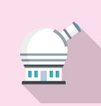 astronomical observatory icon flat style vector image vector image