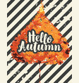 autumn banner with bright autumn poplar leaf vector image vector image