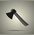 axe icon flat style isolated vector image vector image