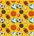 balls sports pattern background vector image vector image