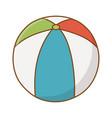 beach ball cartoon vector image vector image