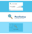 beautiful search avatar logo and business card vector image