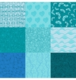 Big collection of seamless patterns for your vector image vector image