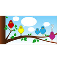 Bird chat vector image vector image