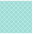 blue quatrefoil outline ornamental pattern vector image vector image