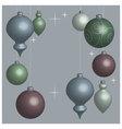 Card Christmas balls soft vector image vector image