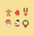 Christmas Icons 2 Flatten vector image vector image