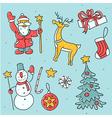 Christmas symbols set vector image vector image