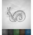cochlea icon Hand drawn vector image vector image