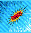 comic fight template vector image vector image